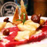 Kabeljaufilet an Rote-Bete-Kartoffel-Püree